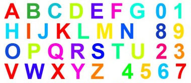 Synesthesia test grapheme-color for letters