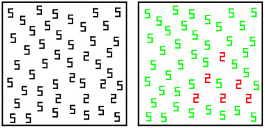 Synesthesia test grapheme-color for numbers